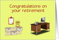 Congratulations on your retirement Office retirement custom card