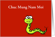Chuc Mung Nam Moi Tet Vietnamese New Year Lunar New Year snake card