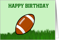 happy Birthday with football custom text card