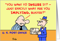 post, office, mailman, insure, insurance card