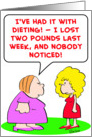 dieting, lost, two, pounds card