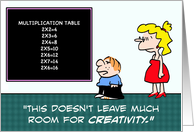 Room for creativity card