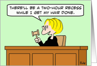 Two-hour hair recess card