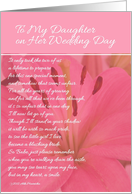 To My Daughter on Her Wedding Day - Pink Lily card