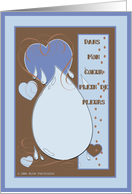 French Miss You Greeting card