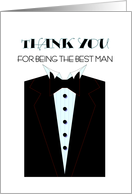 Best Man Thanks card