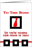 Power Tie card