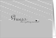 Guess Who Engagement Announcement card