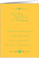 Thanksgiving Memories card