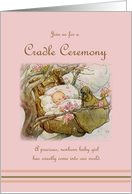Cradle Ceremony Invitation for Newborn Girl card