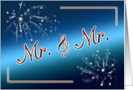 Civil Union invitation with fireworks card