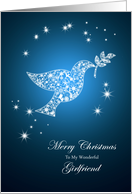 For girlfriend,Dove of peace Christmas card