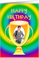 Trophy and picture birthday card