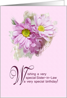 For a sister-in-law. A beautiful birthday card with daisies card