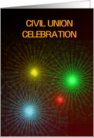 Fireworks and bright lights Civil Union card