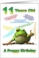 Froggy Jokes card for an 11 year old card