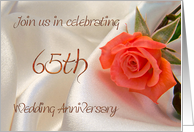 Red rose Anniversary Invitation, 65th card
