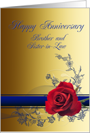 Brother and sister-in-law, Wedding Anniversary card