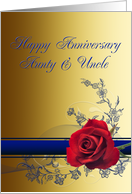 Aunt and uncle Wedding Anniversary , card