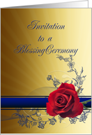 Red Rose Blessing Invitation card