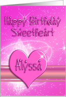 Birthday Heart Card for Alyssa card
