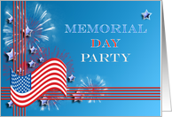 Memorial day card, Party invitiation card