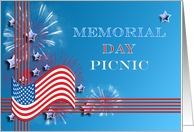 Memorial day card, Picnic invitiation card