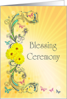 Invitation to a Blessing Ceremony card