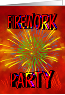 Firework Party Invitation card