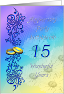 15 years Anniversary Party card