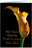 On the loss of an aunt. With deepest sympathy. card