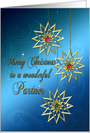 For partner beautiful ornaments Christmas card