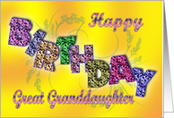 Birthday card for Great Granddaughter. card