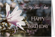 For Aunt, a birthday card with magnolias card
