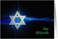 Bar Mitzvah announcement or congratulations, with an abstract pattern card