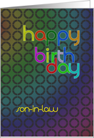 Son-in-Law birthday, abstract birthday card