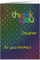 Abstract thank you daughter card
