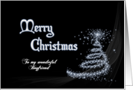 For boyfriend, Classy minimalistic black and white Christmas card