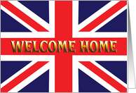 Union Jack welocme home card
