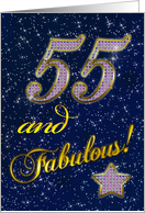 55th Birthday card for someone fabulous! card