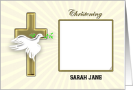 Christening invitation photo card