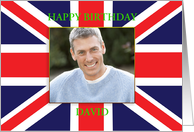 Union Jack photo card for a birthday card