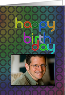 Abstract birthday wishes photo card