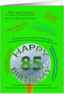 Golf Jokes 85th birthday card