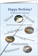 Fishing jokes birthday card