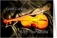 Good luck with your music recital card