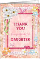 Thank you daughter, flowers and butterflies card