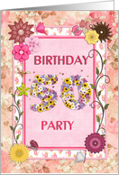 50th birthday party, Flowers and butterflies craft card