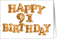 91st Birthday card for a cookie lover card