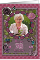 Scrapbooking effect 78th birthday card